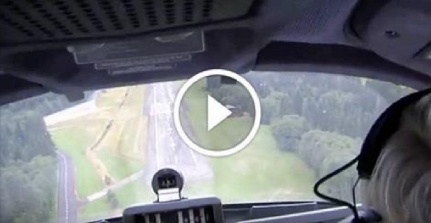 Live Landing With The Gear Up !