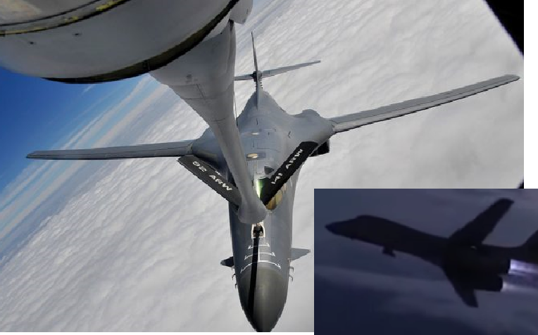 B-1 Lancer Refuels Midair Then Makes KILLER Burner Break
