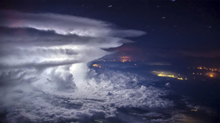 Thunderstorm Photos From 37,000 ft