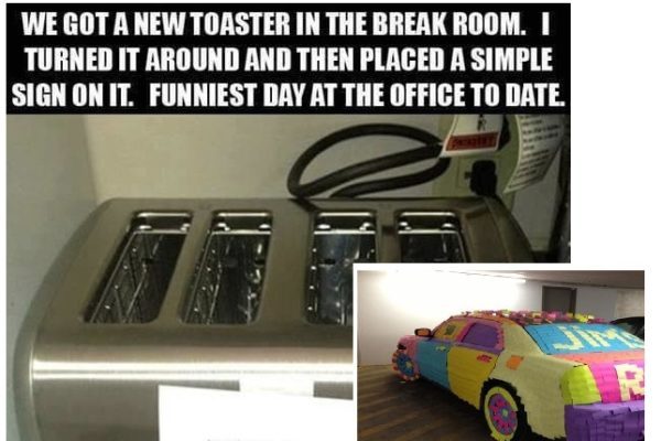 19 Diabolical Office Pranks That Will Make You Scared To Take A Sick Day
