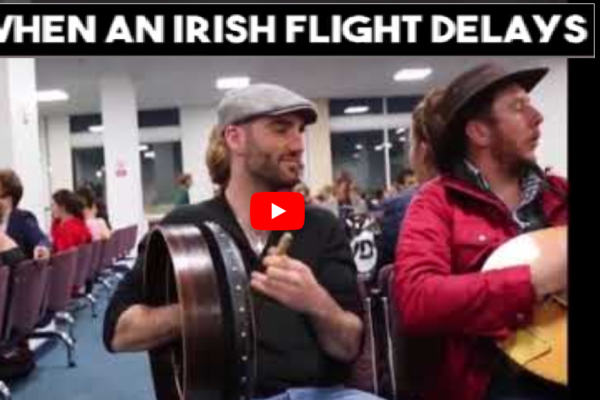 Irish Singalong During Flight Delay