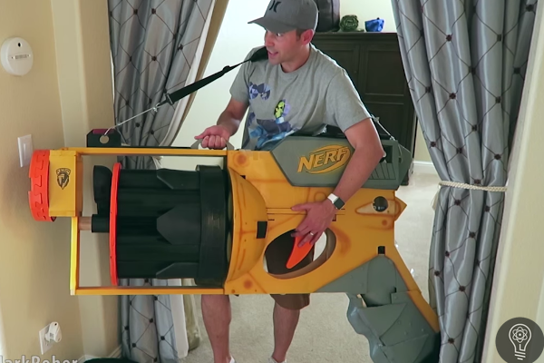 Former NASA Engineer Builds World's Largest Functional NERF Gun