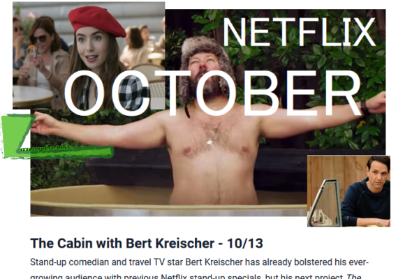 Netflix Originals Coming to Netflix in October 2020
