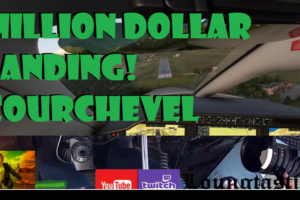 Million Dollar Landing! Courchevel Landing Challenge Microsoft Flight Simulator 2020