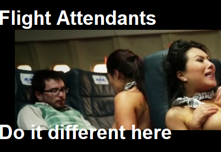 These flight attendants do it different than what I'm accustomed to…